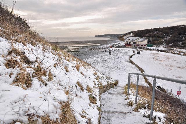 Llantwit Major beach in winter