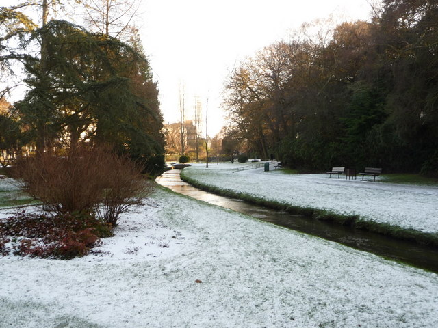 Bournemouth: Central Gardens in snow