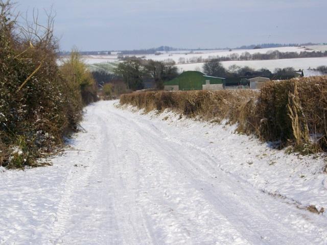 Snow covered track, Bishopstone