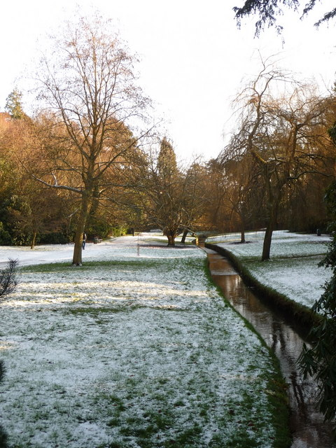Bournemouth: snow in the Upper Gardens