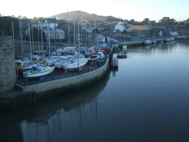 Craft moored at Conwy Harbour