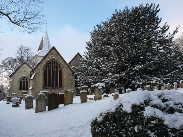 Merstham Church from the east.