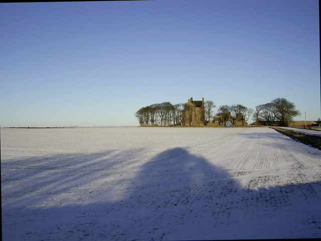 Balcomie Castle in winter