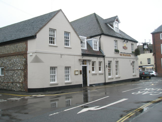 A dull December day approaching The Swan Hotel