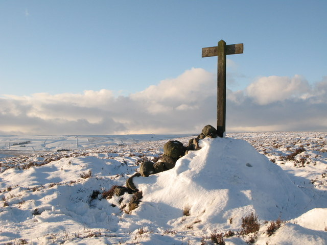 Stobb Cross under snow