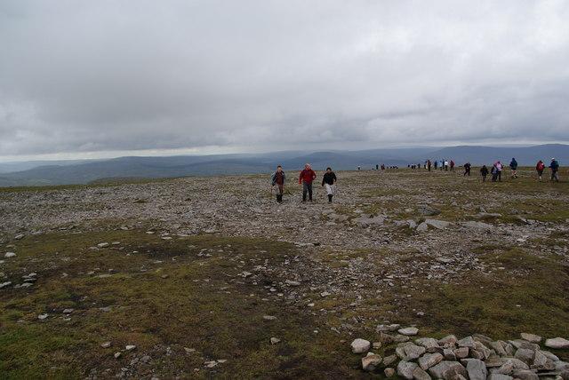 The summit plateau of Ingleborough