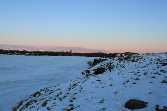 Lochore Meadows snow on the enclosure