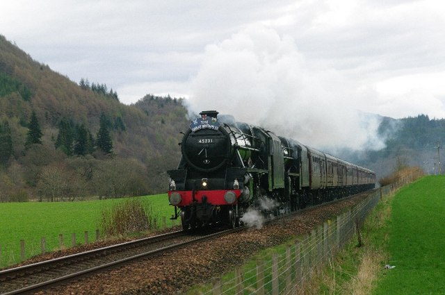 Great Britain 2 Steam Train North of Dunkeld