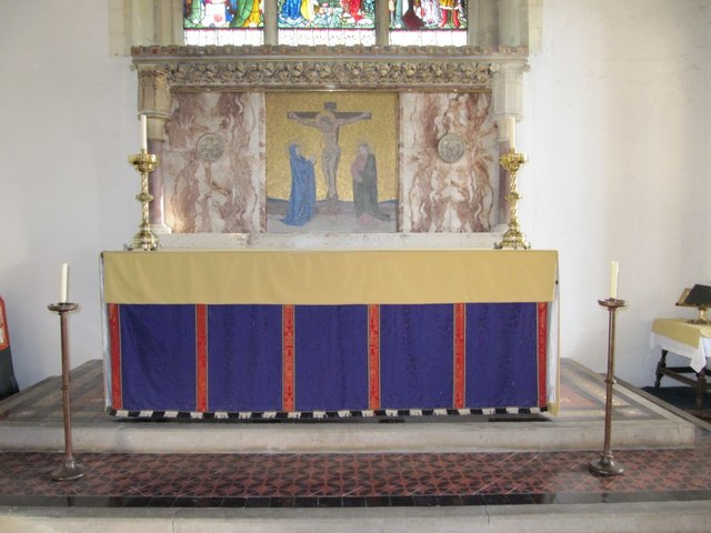 Altar in the chancel