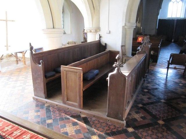 Choir stalls in the church