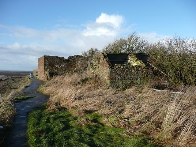 Ruined farm buildings, Bank Houses, Thurnham