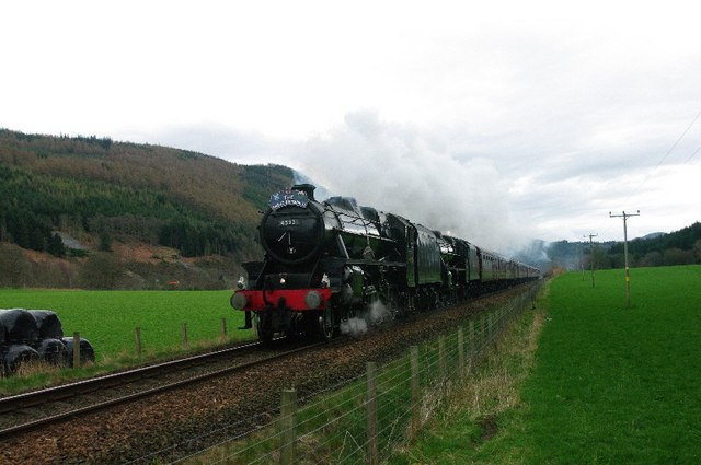 Great Britain 2 Steam Train North of Dunkeld
