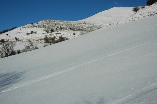The lower slopes of Pen Trumau