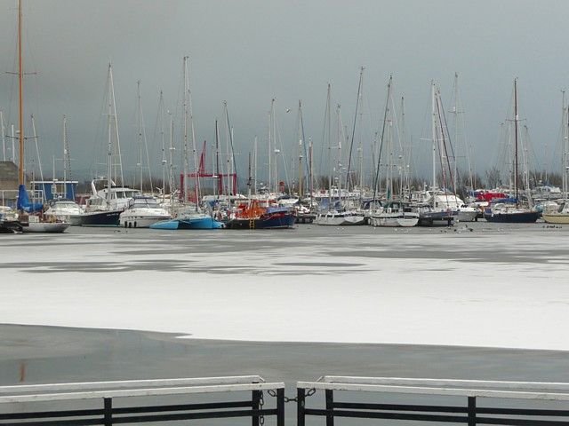Glasson marina, frozen