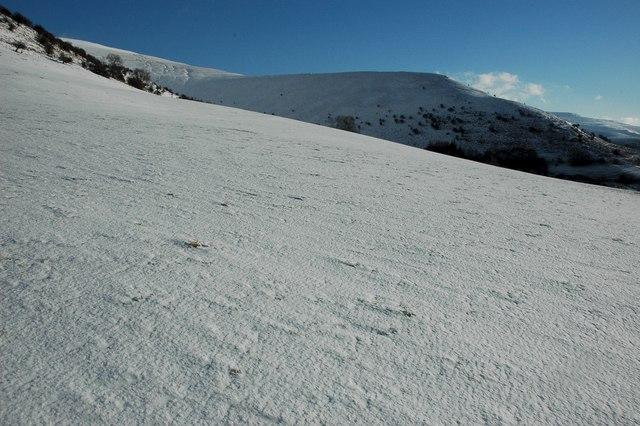 The western slopes of Mynydd Llysiau