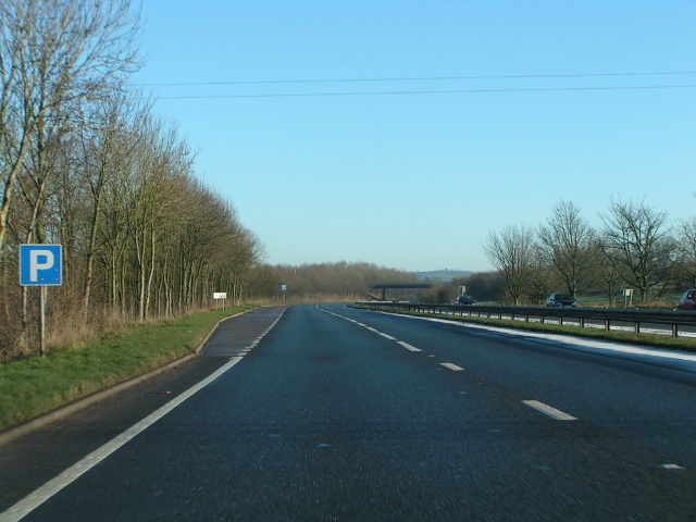 Heading east on the North Devon Link road