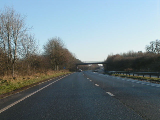 Heading east on the North Devon Link road, A361