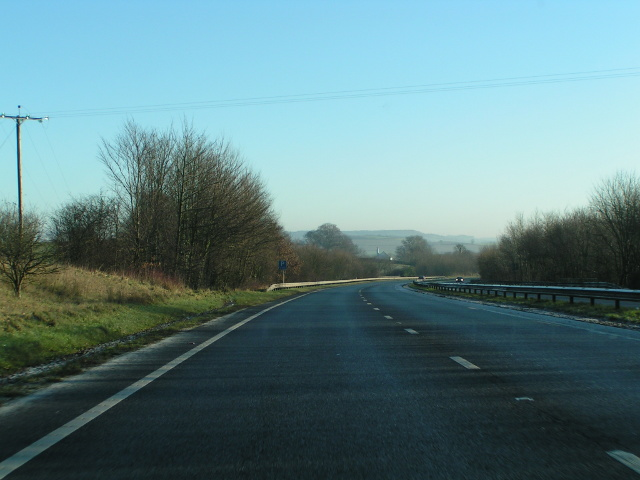 Approaching Sampford Peverell on the A361
