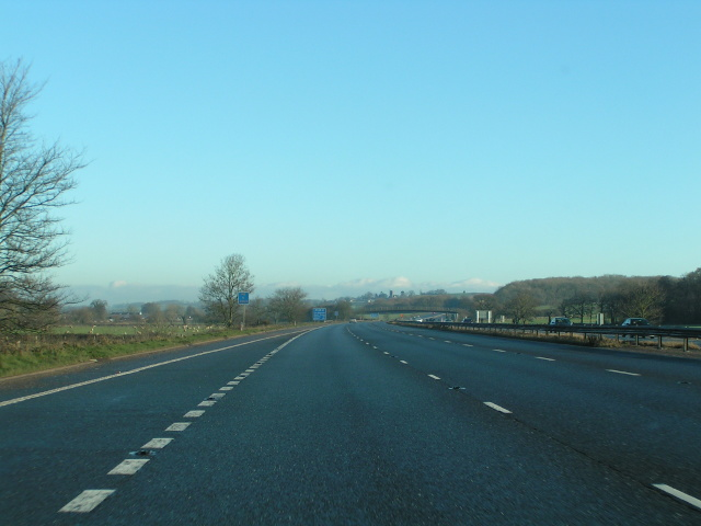 Heading north on the M5 at junction 27