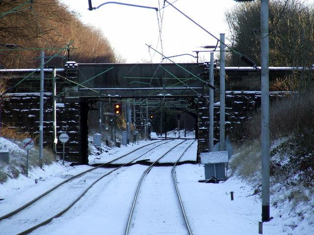 Railway line near Maxwell Park