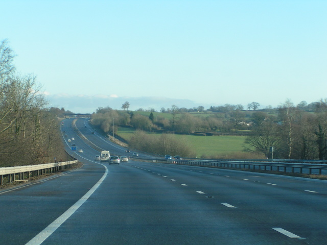M5 heading north, approaching the Devon/Somerset border