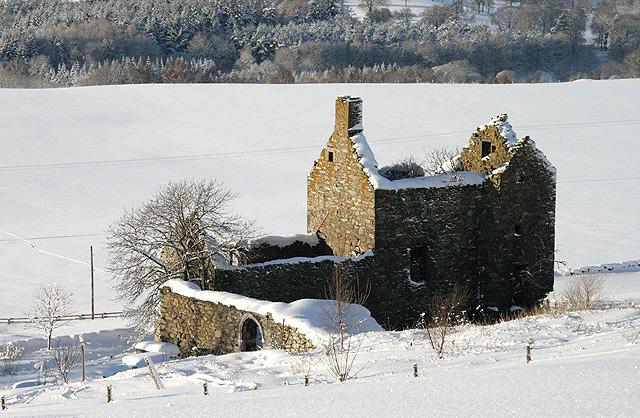 Buckholm Tower in winter