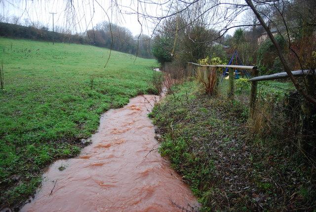 A red stream near Stogumber