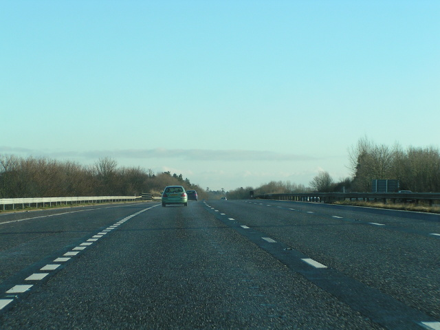 M5 northbound just after passing Taunton Deane Services