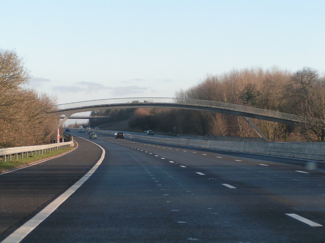 Footbridge over the M5 near Poundisford