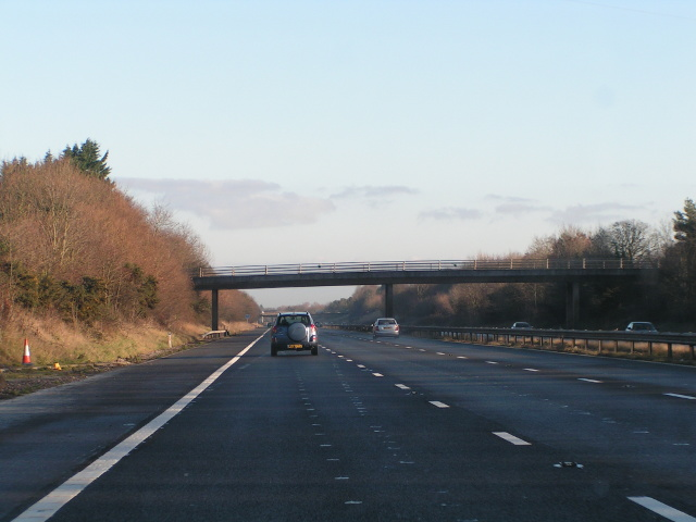 Bridge crossing the M5 near Taunton