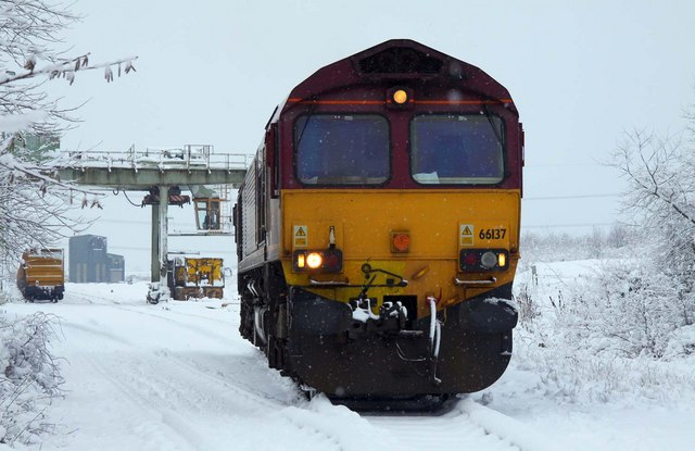 Loco in the snow at Appleford
