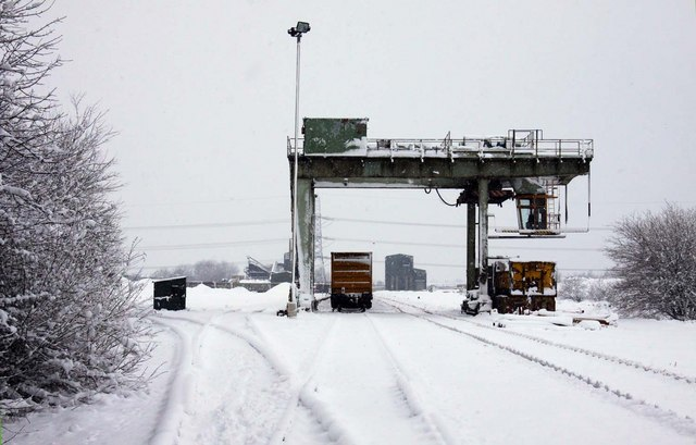 The container crane in Appleford