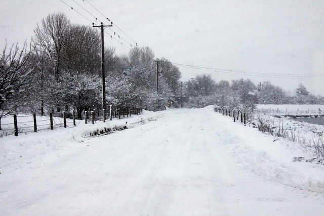 The road from Appleford Sidings