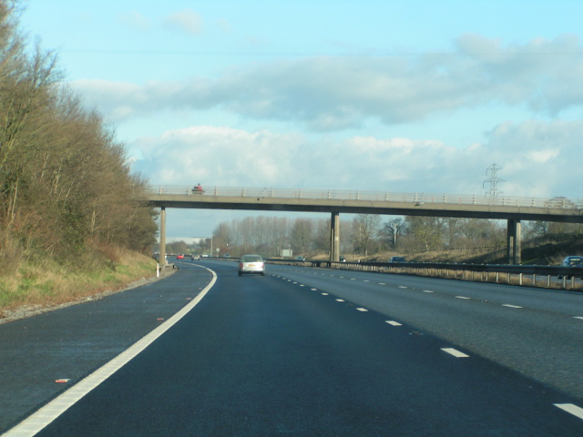 A curve in the M5 northbound