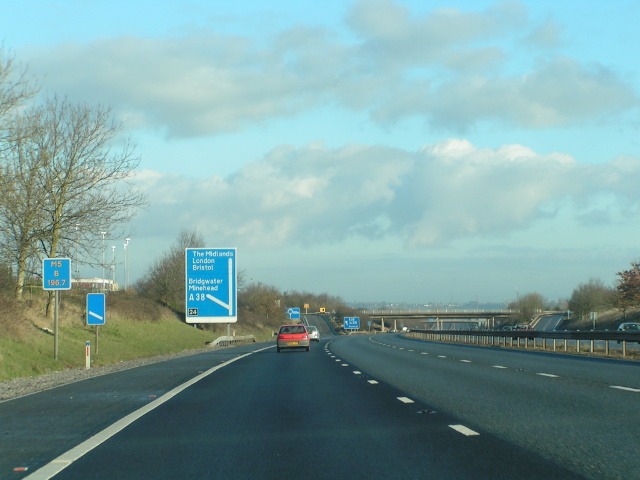 Junction 24 northbound on the M5