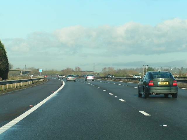 Northbound M5 near Slape Cross