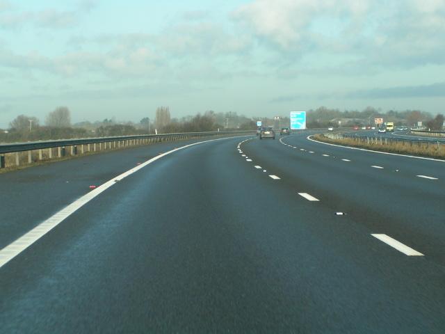 Approaching Glastonbury turning on the M5 northbound