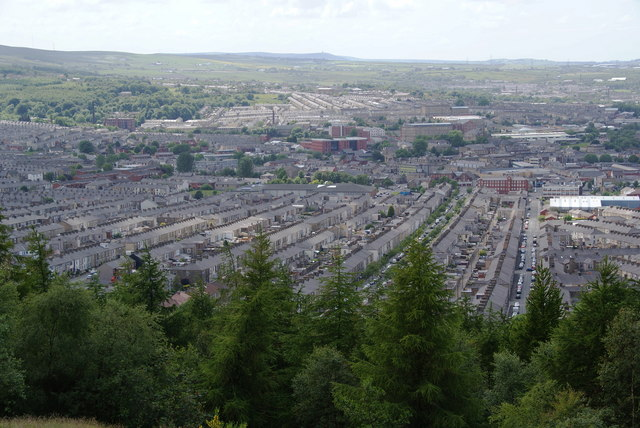 Terraced housing in Accrington