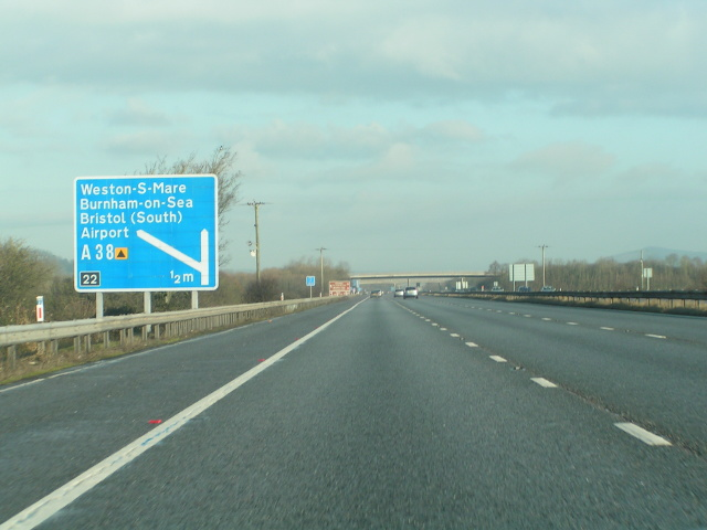 Approaching junction 22 on the M5 northbound