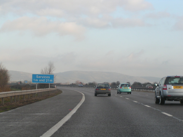 M5 northbound, 1 mile from Sedgemoor Services