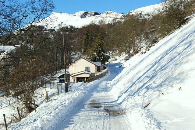 Roadside house on the quarry road