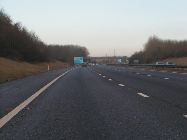 M5 northbound approaching junction 21