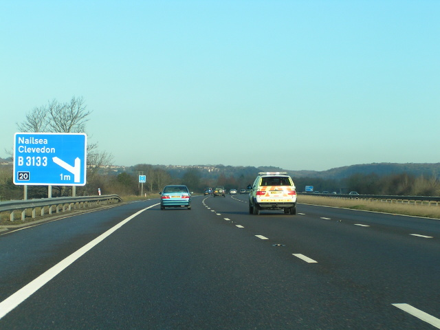 M5 northbound approaching junction 20