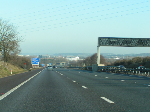 M5 northbound approaching Avonmouth