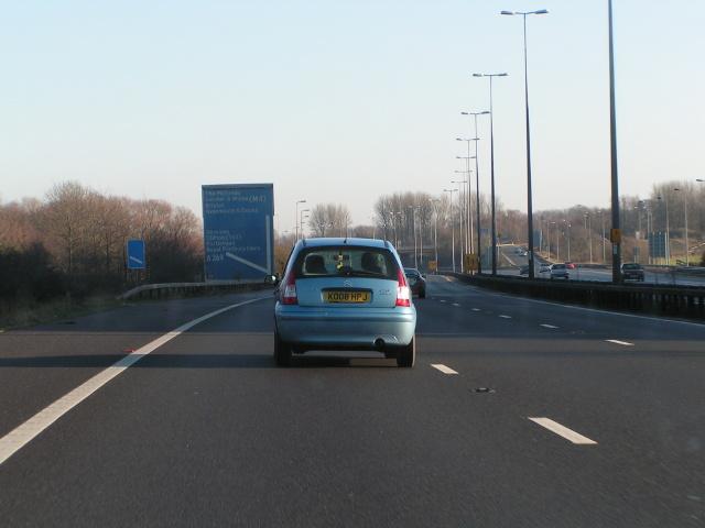 M5 northbound junction 19