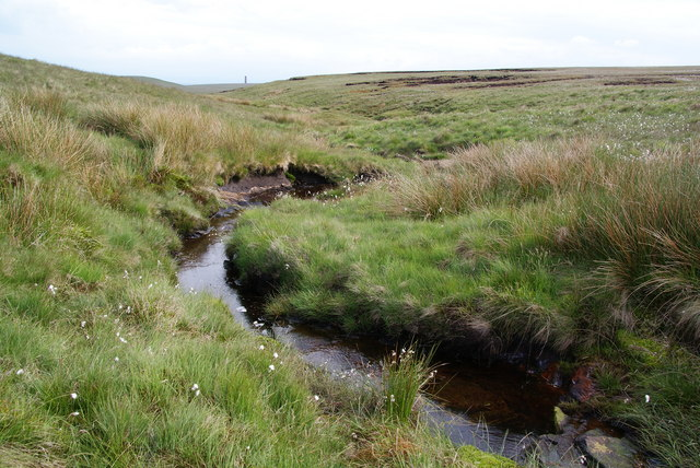 The stream above Red Clough