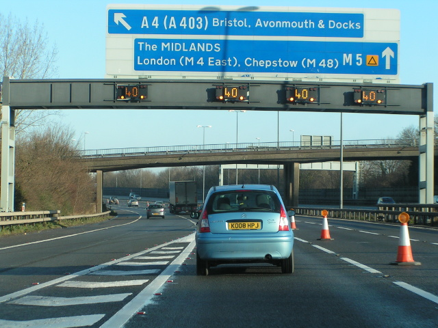 M5 northbound just after junction 19