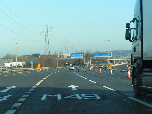 Approaching junction 18 on the M5 northbound