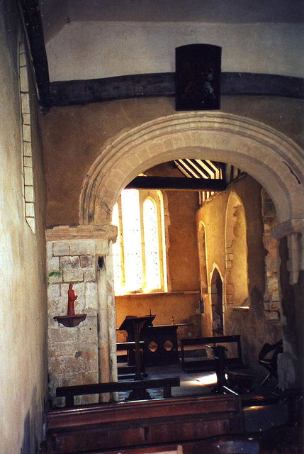 Interior of St. Mary's, Little Hormead, Herts.