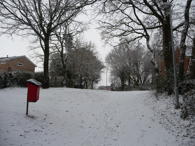 Tiverton : Path & Snow Scene